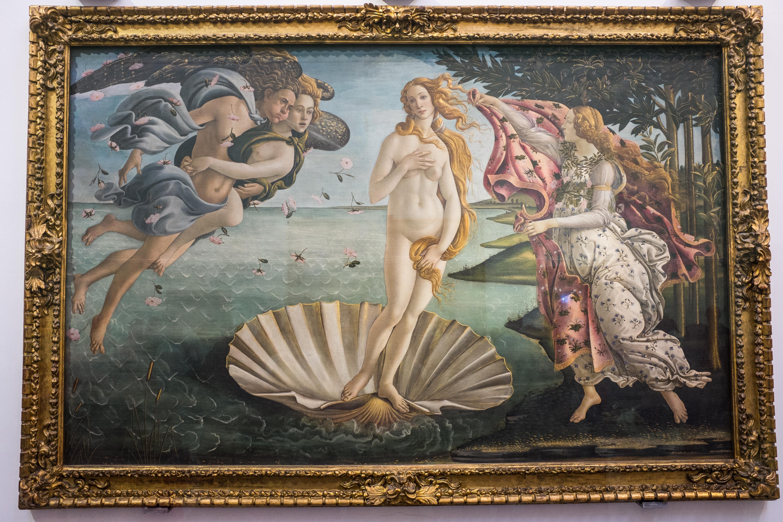 Die Geburt der Venus - Le Gallerie degli Uffizi - Florenz
